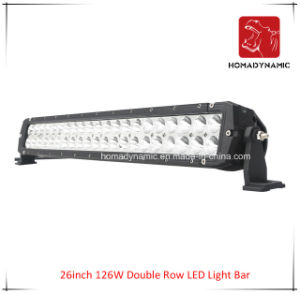 LED Car Light of 26 Inch 126W Double Row LED Light Bar Waterproof for SUV Car LED off Road Light and LED Driving Light pictures & photos