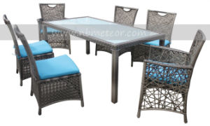 Mtc-030 Outdoor Patio Rattan Furniture 6 Seat and Table