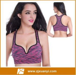 823626c26a China 3D One-Piece Cup Sexy Deep V Plunge Push up Sports Bra Women Wireless  Running Sleeping Crop Top - China Push up Bras