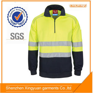 74099ce0ba8 China Star GS Yellow Navy Hi Vis 100%Polyester Fleece Work Jumper Jacket  with Reflectors - China Work T Shirt