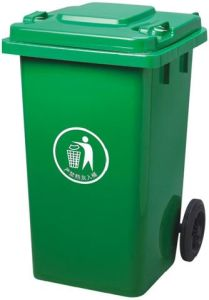 Green 100lt Plastic Dustbin pictures & photos