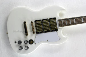 Hanhai Music / White Sg Style Electric Guitar pictures & photos