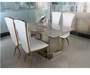 Latest Metal Tempered Marble Extendable Dining Table Designs Modern Dining  Set
