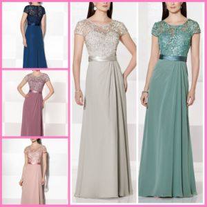 A-Line Prom Party Prom Gown Chiffon Lace Mother Bridesmaid Evening Dress M215625 pictures & photos