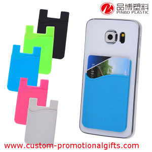 universal size silicone cell phone adhesive sticker card holder - Custom Adhesive Cell Phone Card Holder