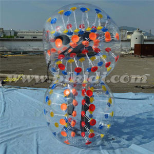 Cheaper Colorful Dots PVC Soccer Bubble Ball D5012 pictures & photos