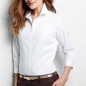 c6ffe0a6b0c China White 3/4-Sleeve No Iron Women′s Office Shirt (WXW211) - China Women′s  Shirt, Women′s Blouse