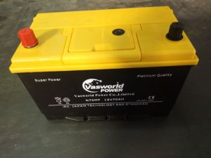 12V75ah JIS Standard Maintenance Free Korean Car Battery pictures & photos