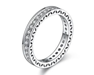 China 100 Real 925 Sterling Silver Rings For Women Simple Design