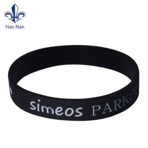 Custom Logo Debossed Printing Rubber Silicone Wristband pictures & photos