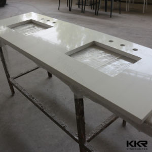 Custom Size Solid Surface Kitchen Cabinet Countertop pictures & photos