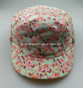China Floral Print Canvas Military Hat - China Cadet Hat 60a7b4fe64a