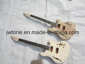 Solid Ash Body Top Double F Hole Quality Electric Guitar