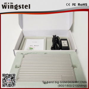 Tri Band GSM/Dcs/WCDMA 900/1800/2100MHz Powerful Mobile Signal Booster with Antenna pictures & photos