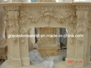 Nice Carved Marble Fireplace Mantel pictures & photos