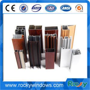 Wood Grain Thermal-Break Window Aluminum Profiles pictures & photos