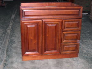 Cherry Glazed Solid Wood Bathroom Cabinets Yb121 (23) pictures & photos