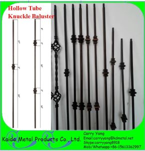 USA U0026 Canada Hot Sale Ornamental Hollow Tube Knuckle Metal Stair Spindles/ Balusters