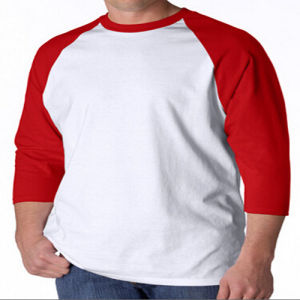 100% Polyester T Shirt with Raglan Sleeves pictures & photos