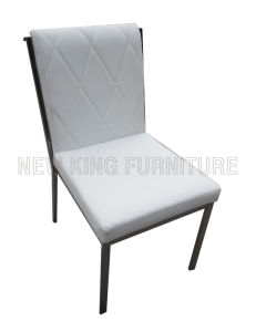 Modern Luxurious Stainless Steel Foot PU Leather Dining Chair (NK-DC029)