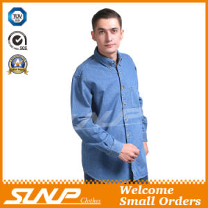 New Style Fashion Denim Workwear with Long Sleeve for Men