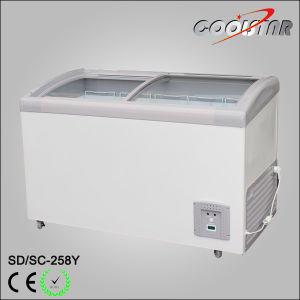 China 9 Cubic Feet Ice Cream Horizontal Freezer Gl Door