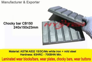 Professional Manufacturer of White Iron Wear Blocks CB150 Chocky Blocks Chocky Bars 63HRC pictures & photos