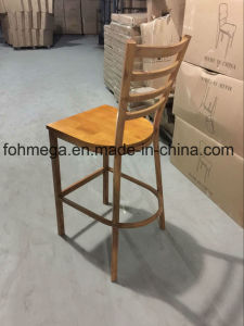 Wood Seat Metal Bar Stool for Restaurant (FOH-BC001) pictures & photos