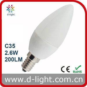 2.6W E14 High Lumen White Small LED Candle Light