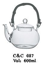High Quality Borosilicate Heat Resistant Glass Teapot with Filter Wholesale