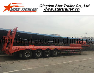 4axles 100ton Lowbed Semi Trailer pictures & photos
