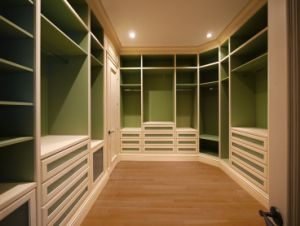 Solid Wood Wardrobe, Bedroom Furniture (walk in closet) #Yb-5
