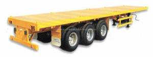 40feet Flatbed Container Semi Trailer 3 Axles for African Market pictures & photos