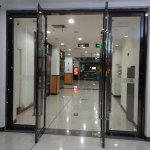 High Quality Aluminum Frame Double Swing Doors with Tublar Handles K08003 & China High Quality Aluminum Frame Double Swing Doors with Tublar ...