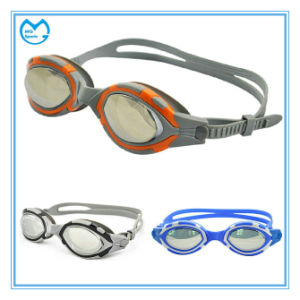 Anti Fog Silicone Gasket Prescription Goggles for Swimming pictures & photos
