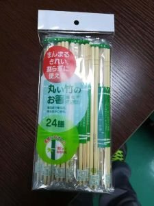 Chopsticks with Customers Logo in Plastic Wrap 5.0-5.5mm