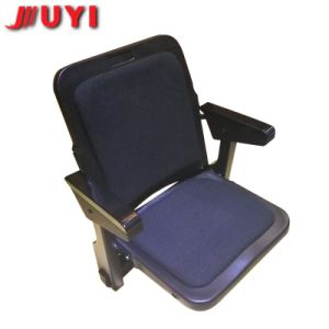 China Durable Public Furniture Retractable Grandstand Chairs Wood Armrest Tip-up Plastic Heavy Duty Telescopic Stand pictures & photos