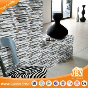 15X15mm Cold Spray, Black and White Glass Mosaic with Marble (M815045) pictures & photos