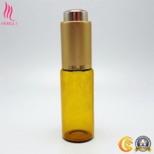 Amber Glass Essential Oil Container with Aluminum Cap pictures & photos