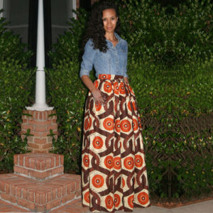 China Womens African Print Skirt Dashiki Ball Gown Dress Casual