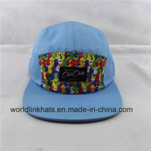 fc7433ca750a4 China Custom Pattern Printed 5 Panel Hat Camp Cap with Patch Label ...