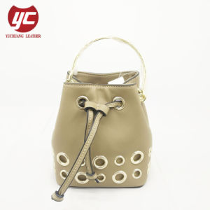Yc H188 Fashion Cow Leather Drawstring Handbags For Las With Grommets