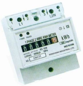 Single Phase Din Rail Energy Meter (SY1018)