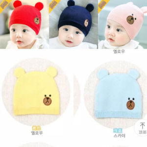 Cartoon Bear Baby Hat Beanies Toddler Cap Knitted Warm Kids Winter Hats  Newborn Photography Props Accessories c719c344ad6b
