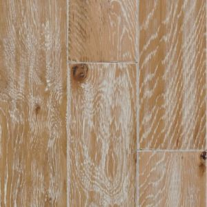 Wire-Brushed White Wash Oak Wooden Flooring (BF4001E36)
