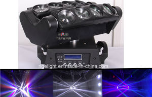 8X10W RGBW 4in1 Disco Effect Beam Spider Stage Light CREE LED Moving Head Light pictures & photos