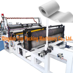 Automatic Cuts Gluing 3ply Toilet Paper Rewinding Making Machine pictures & photos