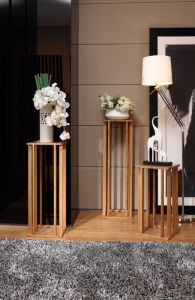 Bamboo Tall Table Flower Stands for Home Decor pictures & photos