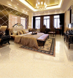 White Golden Silk Stone Porcelain Polished Tile pictures & photos