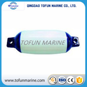 Heavy Duty PVC Inflatable White with Blue Top Marine Boat Fender